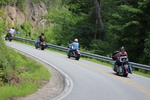 Motorcycles in Hot Springs